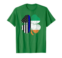 Charger l'image dans la galerie, Funny shirts V-neck Tank top Hoodie sweatshirt usa uk au ca gifts for Thin Blue Line Flag Irish American St Patricks Day T Shirt 2441981