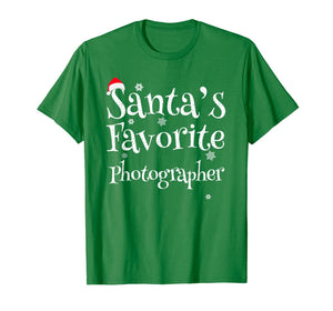 Santa's Favorite Photographer Funny Christmas Gift T-Shirt
