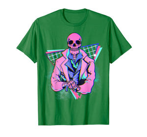 Spooky pink skeleton in a suit Steampunk design 4 Halloween T-Shirt
