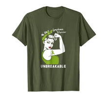 Charger l'image dans la galerie, Funny shirts V-neck Tank top Hoodie sweatshirt usa uk au ca gifts for Lymphoma Warrior Unbreakable - Lymphoma Awareness Shirt 250980