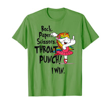 Charger l'image dans la galerie, Rock paper scissors throat punch I win Unicorn Dancing T-Shirt