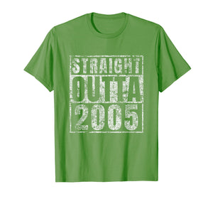 Straight Outta 2005 14th Birthday Gift 14 Year Old T-Shirt