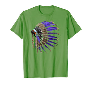 Rez Native American Buffalo Skulls Feathers Indian Shirt