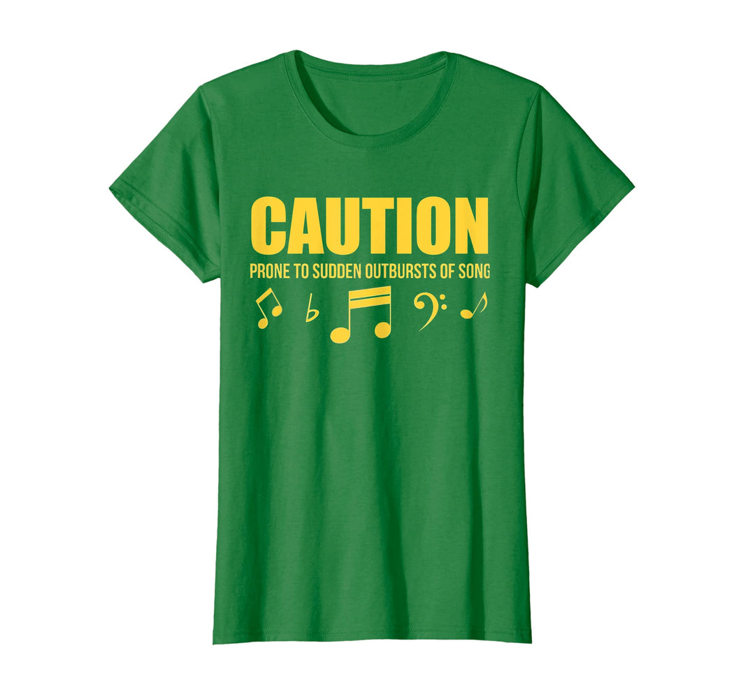 Funny shirts V-neck Tank top Hoodie sweatshirt usa uk au ca gifts for Caution Prone To Sudden Outbursts Of Song Unisex Tshirt 2742286