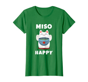 Funny shirts V-neck Tank top Hoodie sweatshirt usa uk au ca gifts for Miso Happy T-Shirt Japanese Cat Lover Pun Tee Gift 269743