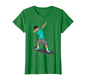 Funny shirts V-neck Tank top Hoodie sweatshirt usa uk au ca gifts for Cute Dabbing Boy On Skateboard Shirt Funny Skater Gift 2363565