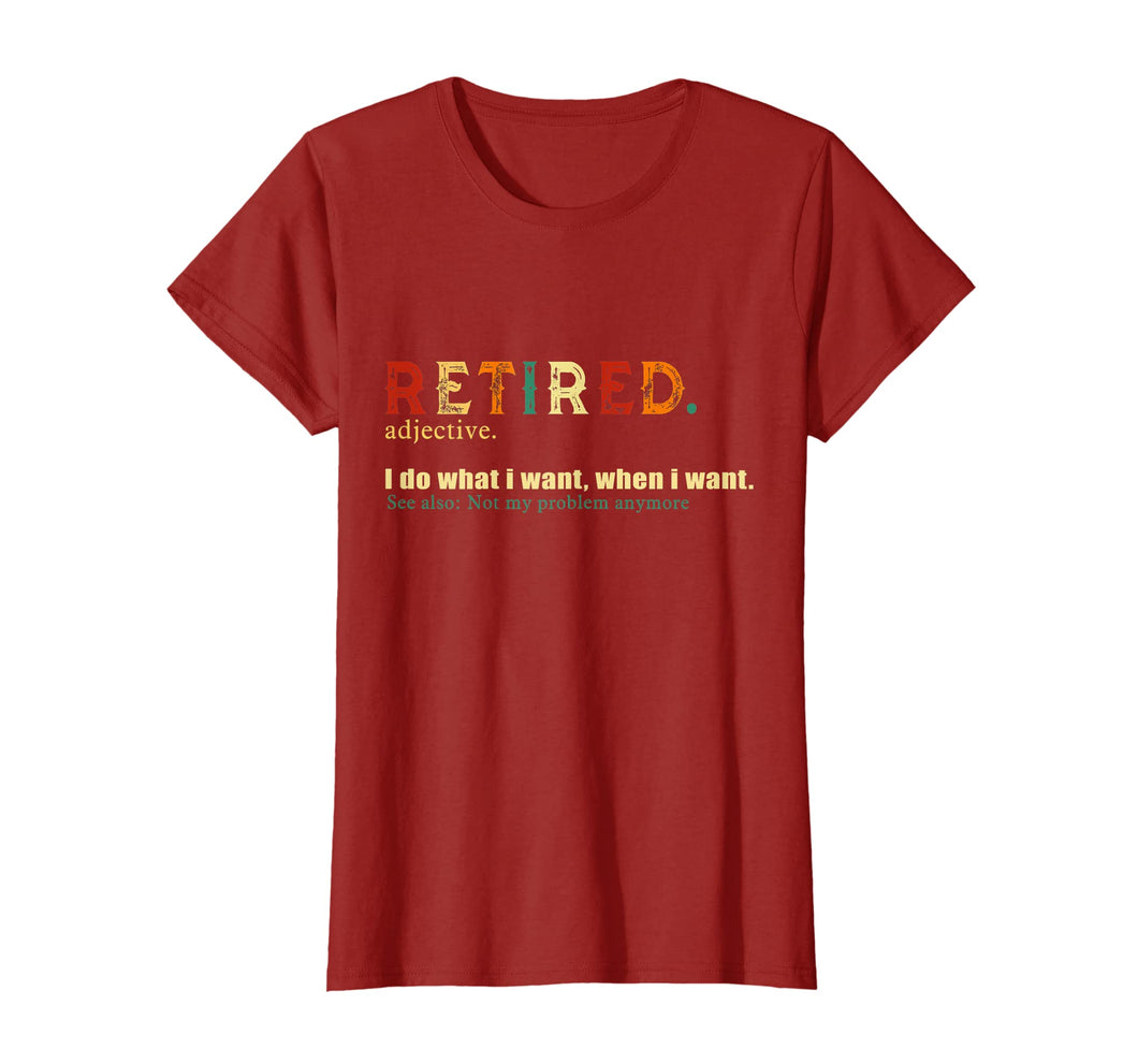 Retired. definition-Funny Retirement Gift Tshirt