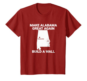 Funny shirts V-neck Tank top Hoodie sweatshirt usa uk au ca gifts for Make Alabama great again build a wall T-shirt 1274427
