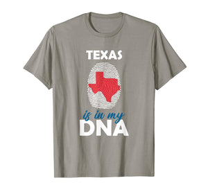 Texas is in my DNA Fingerprint Country Identity T-Shirt