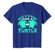 Charger l'image dans la galerie, Funny shirts V-neck Tank top Hoodie sweatshirt usa uk au ca gifts for Skip A Straw Save A Turtle Graphic Turquoise T-Shirt 2669683