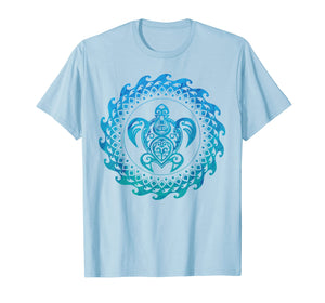 Funny shirts V-neck Tank top Hoodie sweatshirt usa uk au ca gifts for Sea Turtle Hawaii Ocean Blue Tribal Hawaiian Gift T-Shirt 202510