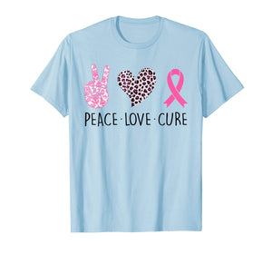 Peace Love Cure Pink Ribbon Breast Cancer Awareness Gifts T-Shirt