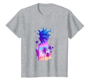 Funny shirts V-neck Tank top Hoodie sweatshirt usa uk au ca gifts for Men's Women's T Shirt Palm Tree Colour Pineapple 221157