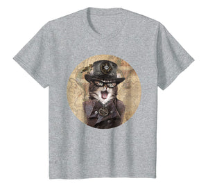 Funny shirts V-neck Tank top Hoodie sweatshirt usa uk au ca gifts for Steampunk Cat - Mens & Womens Soft Lightweight T-Shirt 6554 1537634