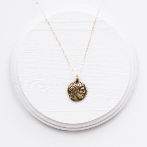 The Zeus Pendant Necklace (gold filled chain)