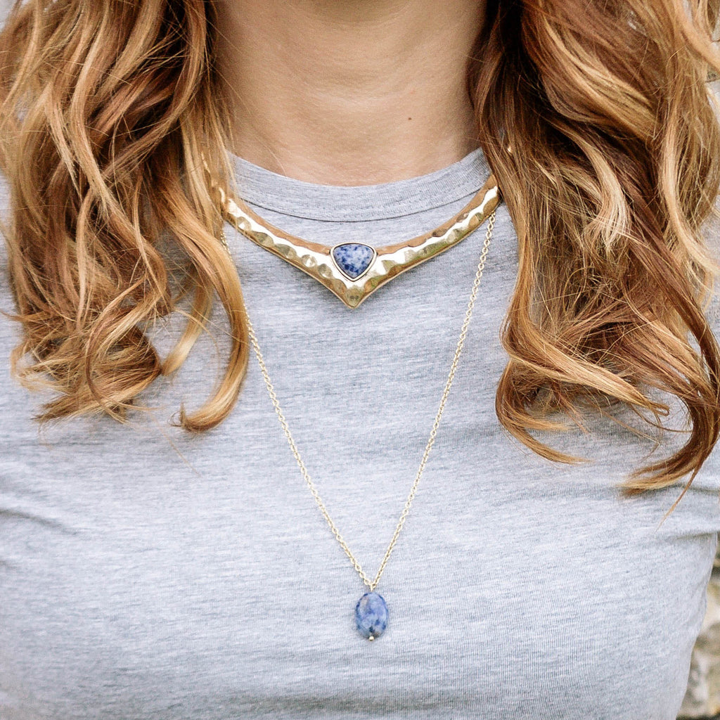 layered necklace gold