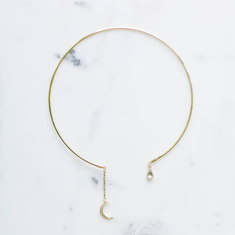 Love you to the moon + back choker