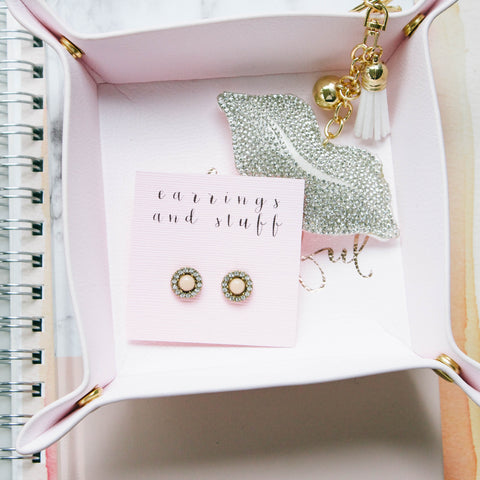 Tickled Pink Studs
