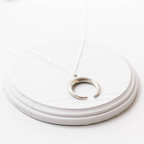 The Silver Horn Necklace