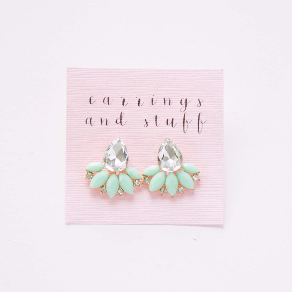 earrings-studs-vintage-clear-crystal-mint-green-spring-summer-2017