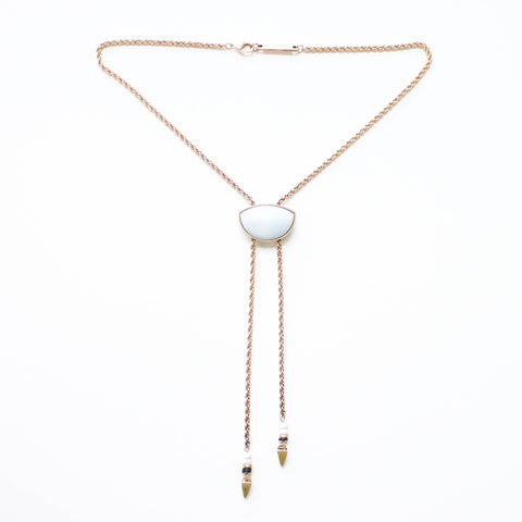 gold roped necklace
