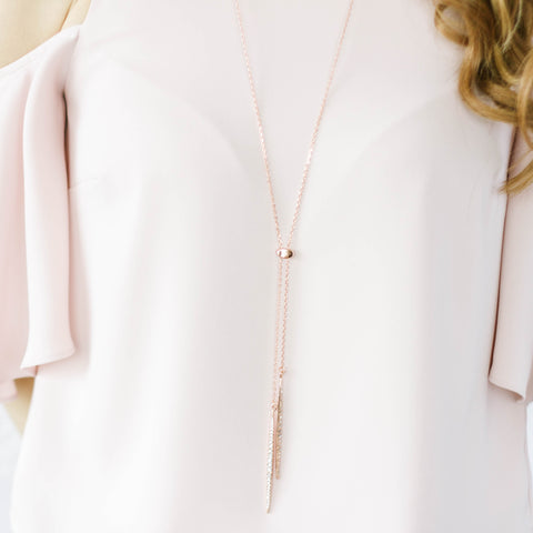 Rose Gold Sliver Chain Necklace
