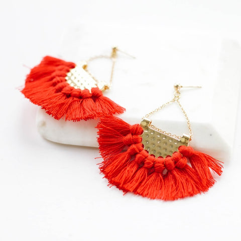 Martine Tassel Earrings