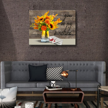 Canvas Wall Art | You Are My Sunshine Sunflower Canvas Prints Framed