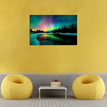 Canvas Wall Art | Colorful Aurora Canvas Prints Framed Ready to Hang