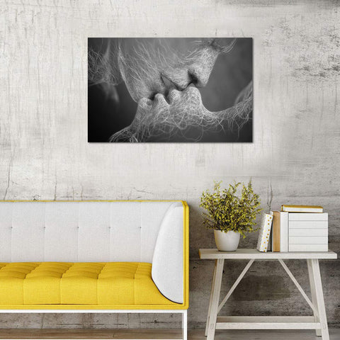 Canvas Wall Art | Black & White Adam & Eve Canvas Prints Framed Ready to Hang