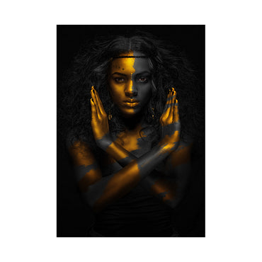 Canvas Wall Art | Black & Gold Woman Canvas Prints