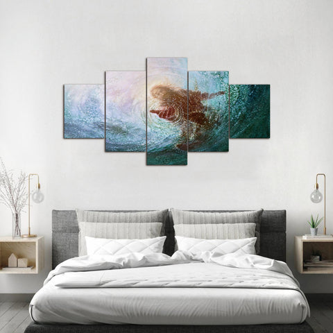 Canvas Wall Art | Modern Jesus Canvas Prints Framed Ready to Hang 5 Pannels