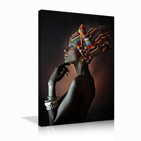Canvas Wall Art | African Black Woman Canvas Prints