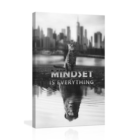 Canvas Wall Art | Mindset is Everything  Tiger kitten Canvas Prints Framed Ready to Hang