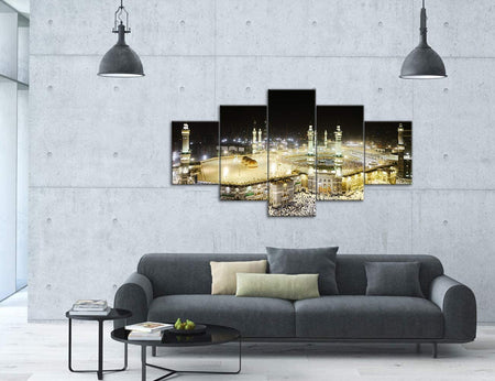 Canvas Wall Art | Islamic Mosque Canvas Painting 5 Panels