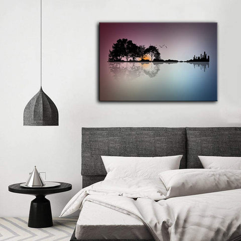 Canvas Wall Art | Modern Guitar Island Canvas Painting