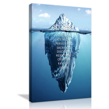Canvas Wall Art | Iceberg Success Inspirational Canvas Prints