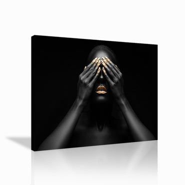 Canvas Wall Art | Black & Golden Woman Canvas Prints Series-06