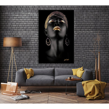 Canvas Wall Art | African American Woman Abstract Poster Wall Art Framed Ready to Hang