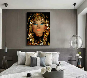 Canvas Wall Art | Black and Golden Woman Canvas Prints