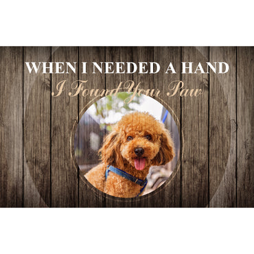 Custom Canvas Wall Art | I Found Your Paw
