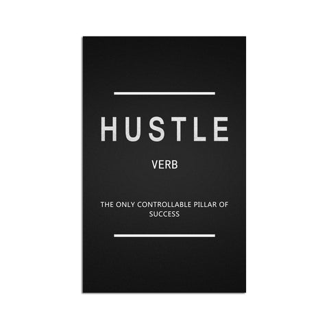Canvas Wall Art | Hustle Inspirational Canvas Prints Framed Ready to Hang