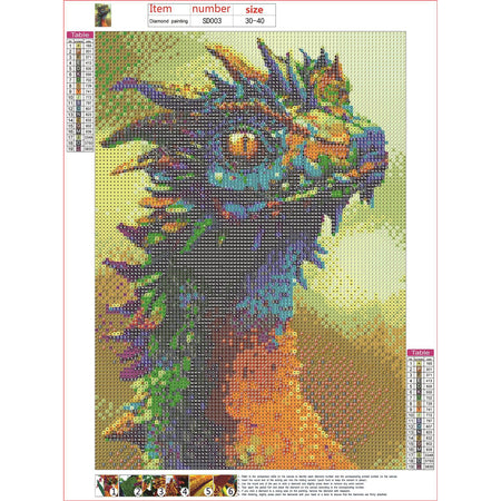 Diamond Painting | Dragon | DIY Paint with Diamonds