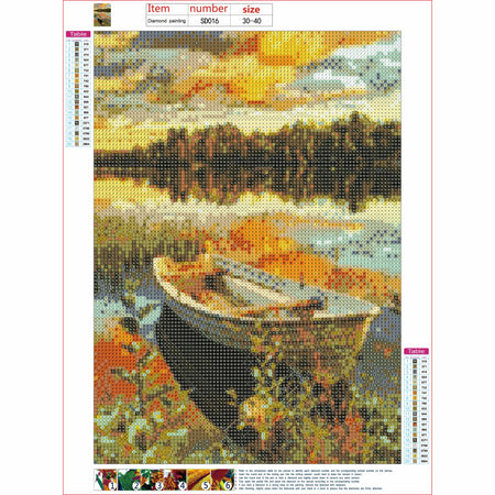 Diamond Painting | Boat on the Lake | DIY Paint with Diamonds