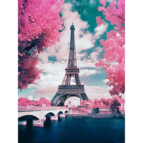 Diamond Painting | Eiffel Tower | DIY Paint with Diamonds
