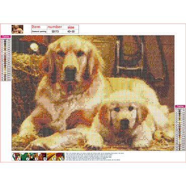 Diamond Painting | Golden Retrievers | DIY Paint with Diamonds