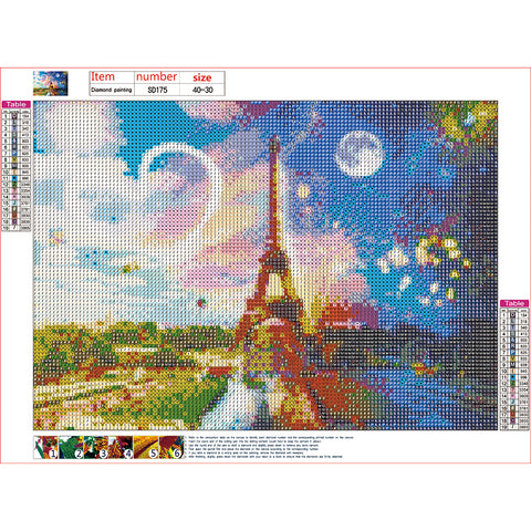 Diamond Painting | Romantic Paris Eiffel Tower | DIY Paint with Diamonds