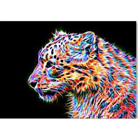 Diamond Painting | Colorful Leopard | DIY Paint with Diamonds