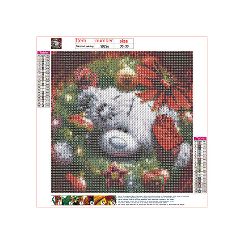 Diamond Painting | Christmas Dress Up Teddy Bear 2 | DIY Paint with Diamonds