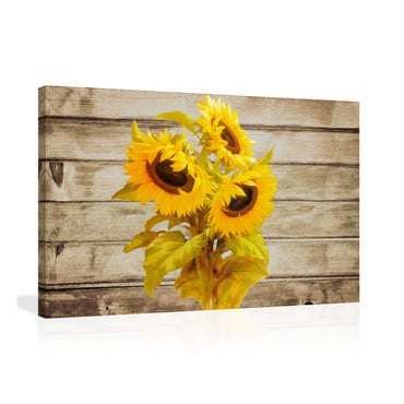 Canvas Wall Art | Sunflower Canvas Prints Framed Ready to Hang